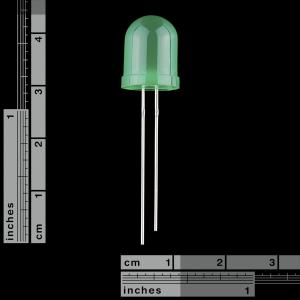 Diffused LED - 10mm verde