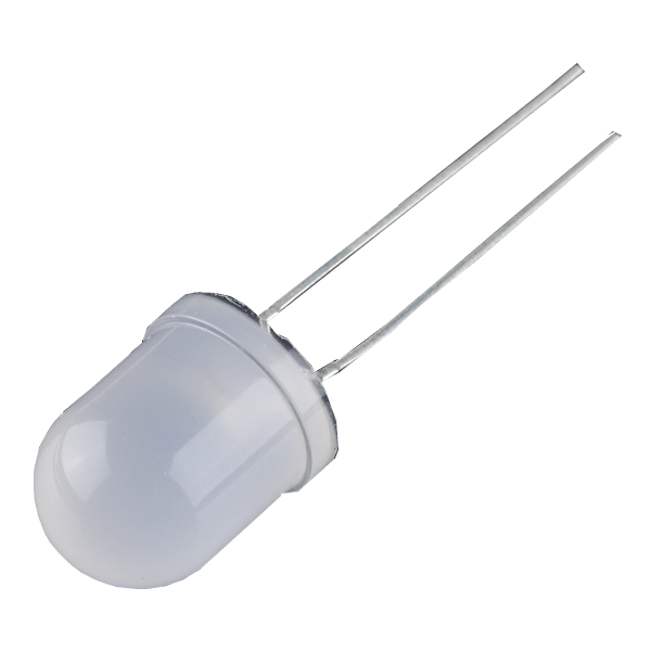 Diffused LED - 10mm blanco