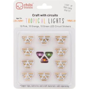 Chibitronics color LEDs tropical lights